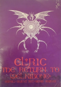'Elric' (Michael Moorcock) with surface mould, distortions and stuck pages throughout.