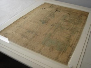 Engineers' Drawing; Housed In a conservation-grade, custom-made folder, designed to suit the needs of the client and the drawing.