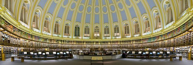 The British Museum Reading Room Dome. Building work began in 1854.